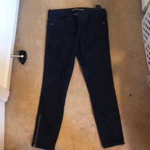 Dark-wash crop skinny jeans from Express